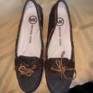 Women's Michael Kors Logo Boat Shoes